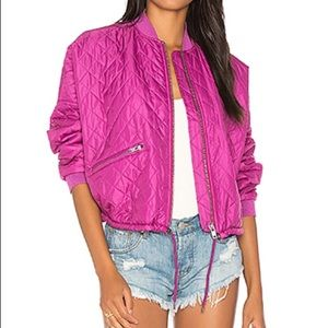Free People Easy Quilted Oversized Bomber Jacket M